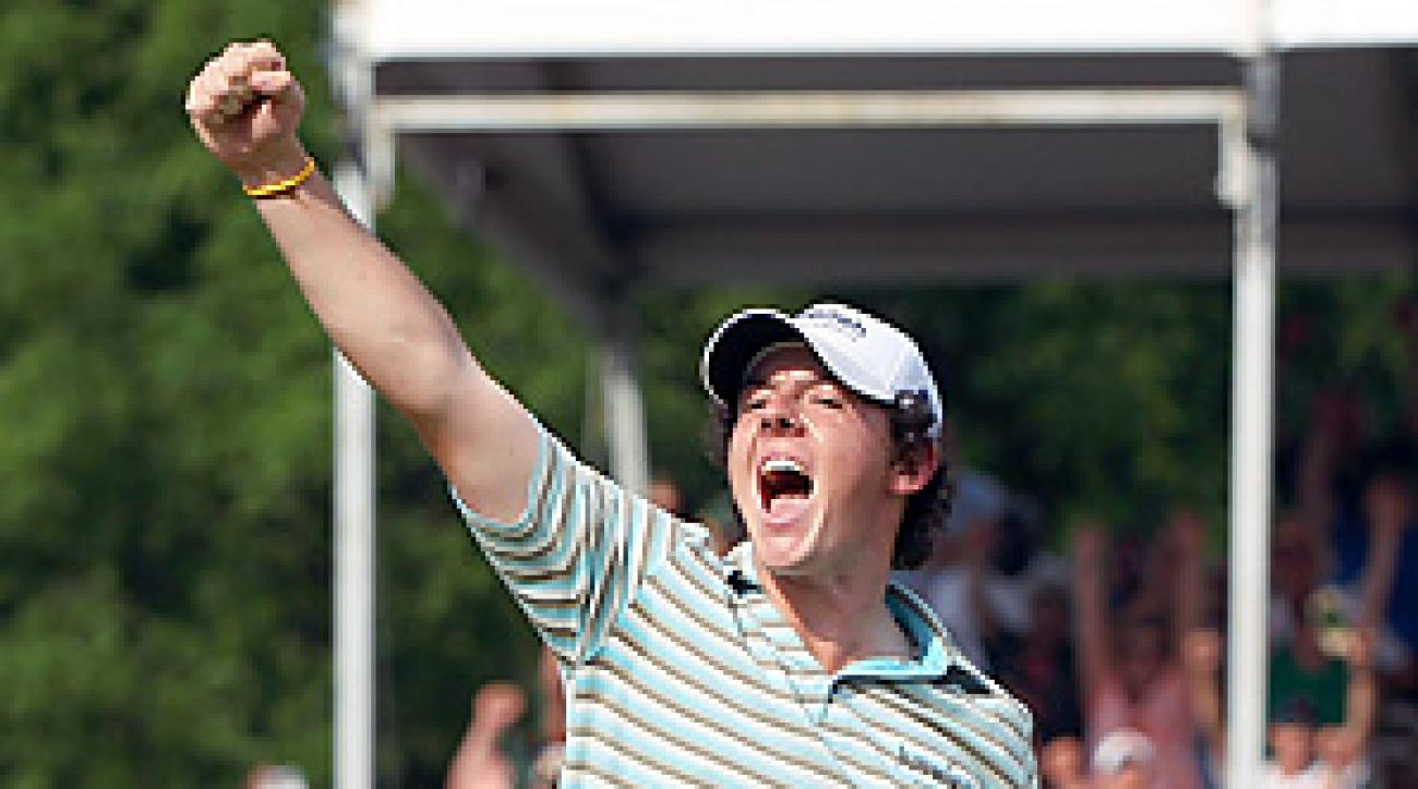 Rory McIlroy played his final five holes in 5 under, including a 5-iron to 3 feet for eagle on the 15th hole that gave him the lead for good.