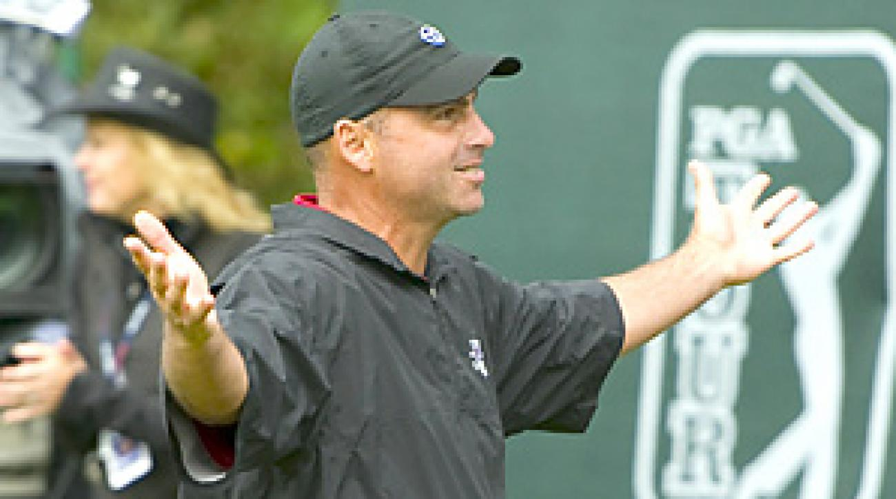 Rocco Mediate earned his first PGA Tour win since 2002.
