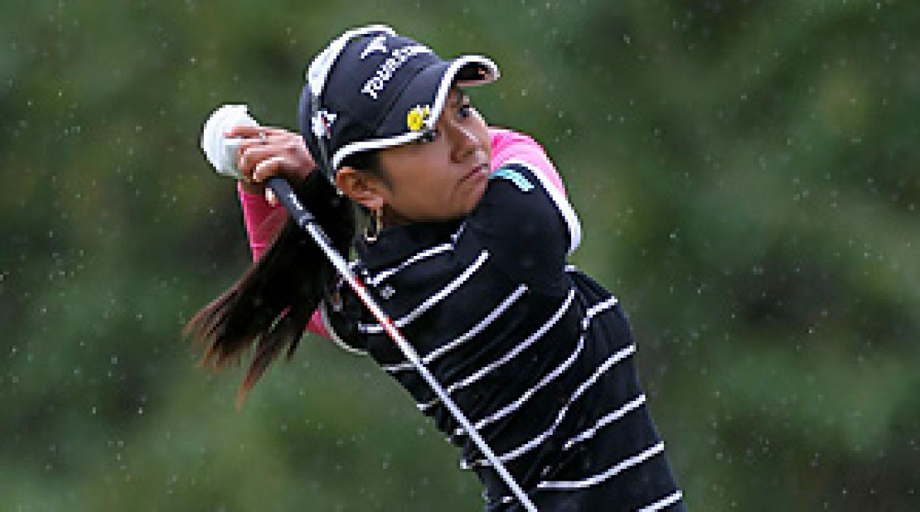Ai Miyazato closed with a Sunday 72 to beat Cristie Kerr by two shots.