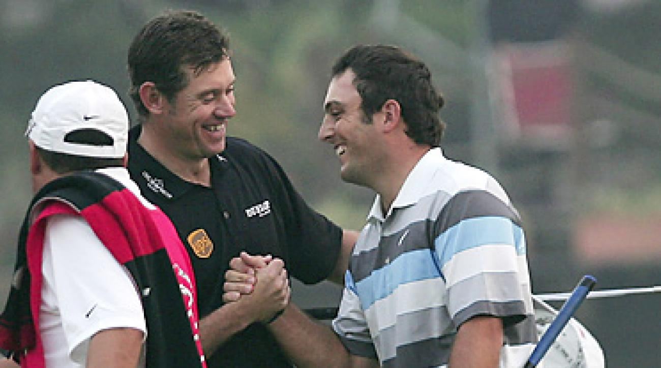 Francesco Molinari and Lee Westwood finished 1-2 at the HSBC Champions in Shanghai on Sunday.