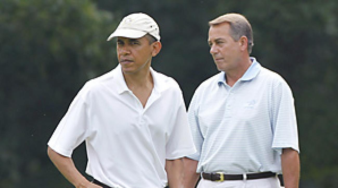 President Obama and John Boehner played their round at a military base outside the nation's capital.