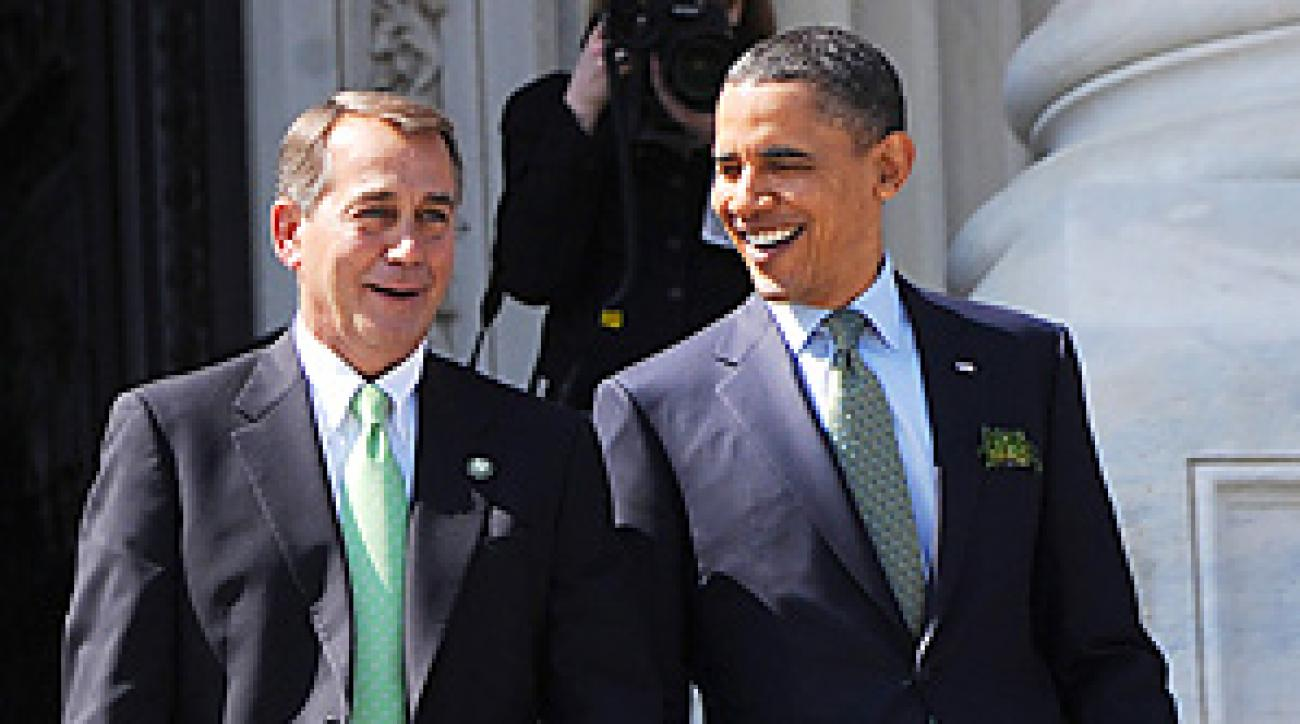 John Boehner will have to give President Barack Obama nine shots when they finally meet on the links, but will the President take them?