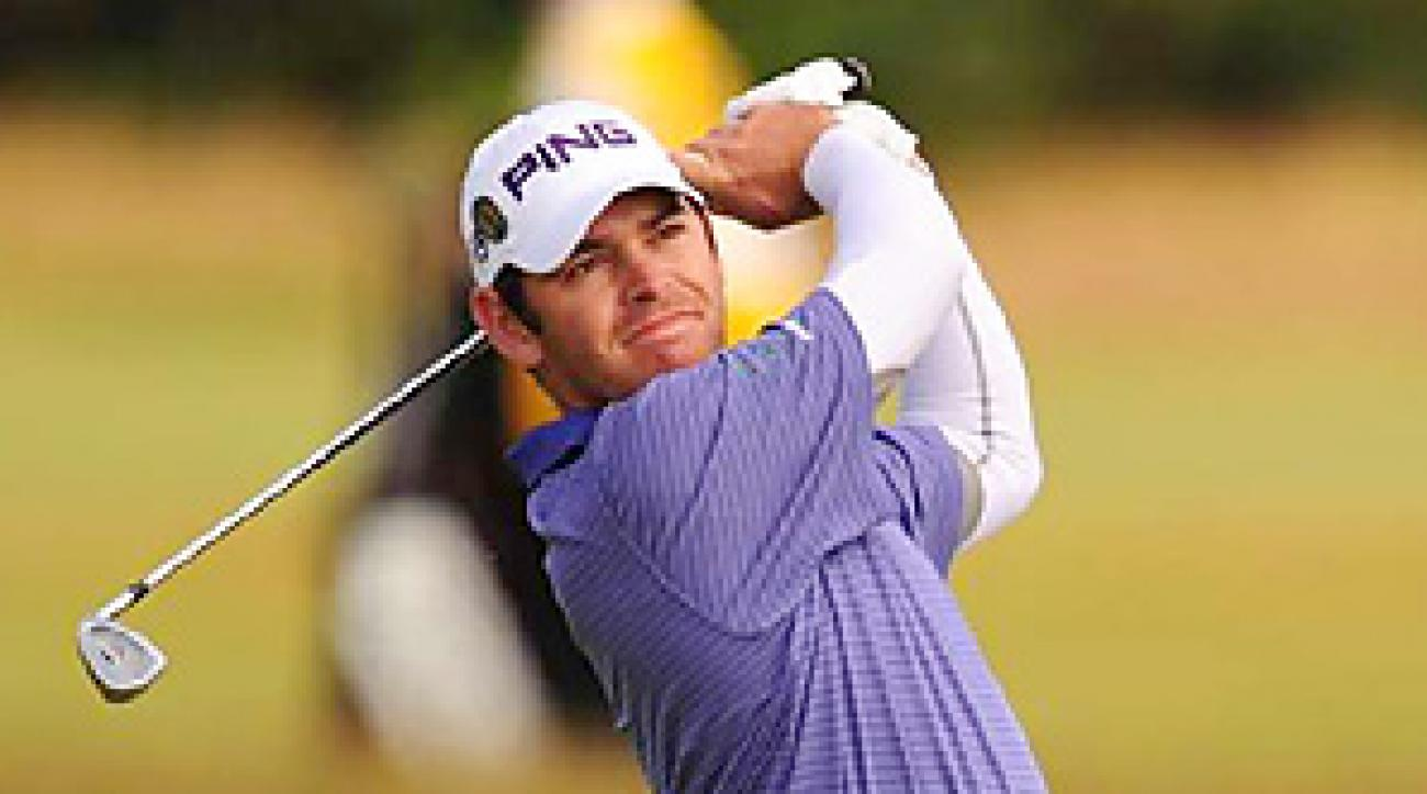 Louis Oosthuizen followed up an opening-round 65 with a 67 on Friday at the British Open.