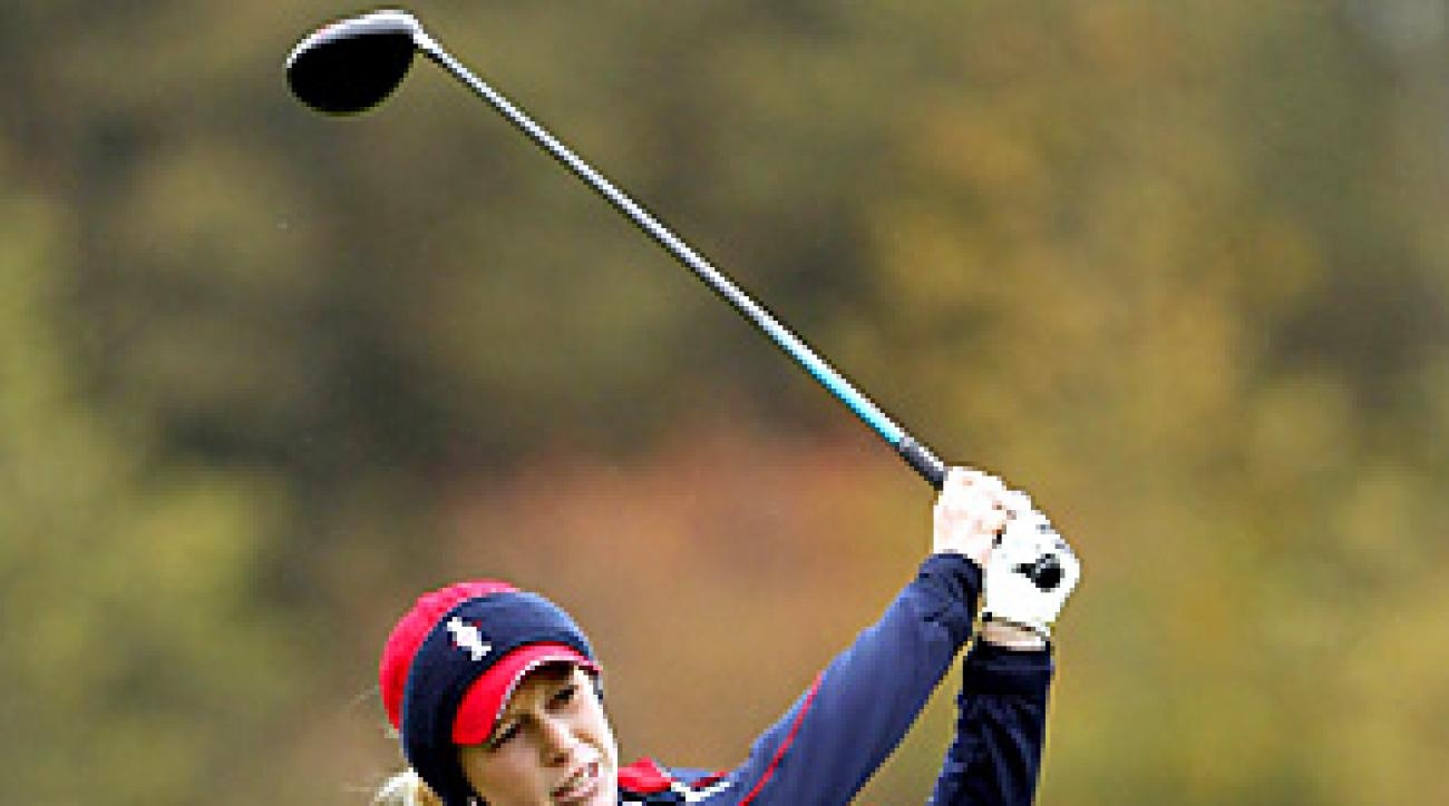Morgan Pressel and the U.S. are seeking a fourth straight Solheim Cup victory.