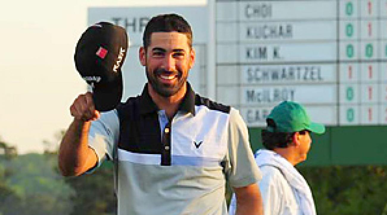 Alvaro Quiros's best round at Augusta National was a 75 before he shot a 7-under 65 on Thursday.