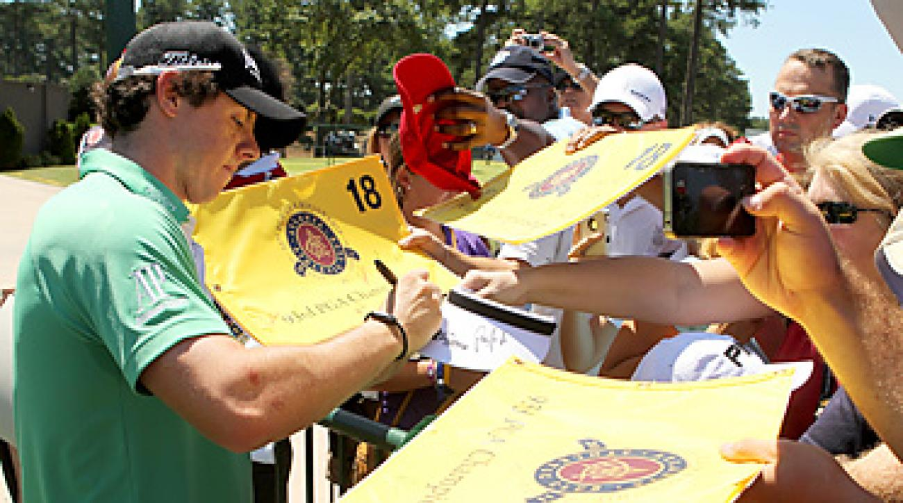 Rory McIlroy has been attracting some of the largest crowds of the week.