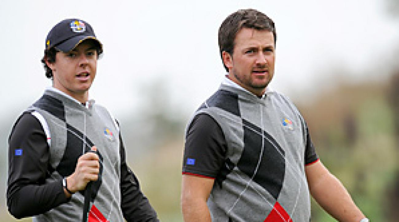 Rory McIlroy and Grame McDowell will likely be paired together for Friday's four-ball.
