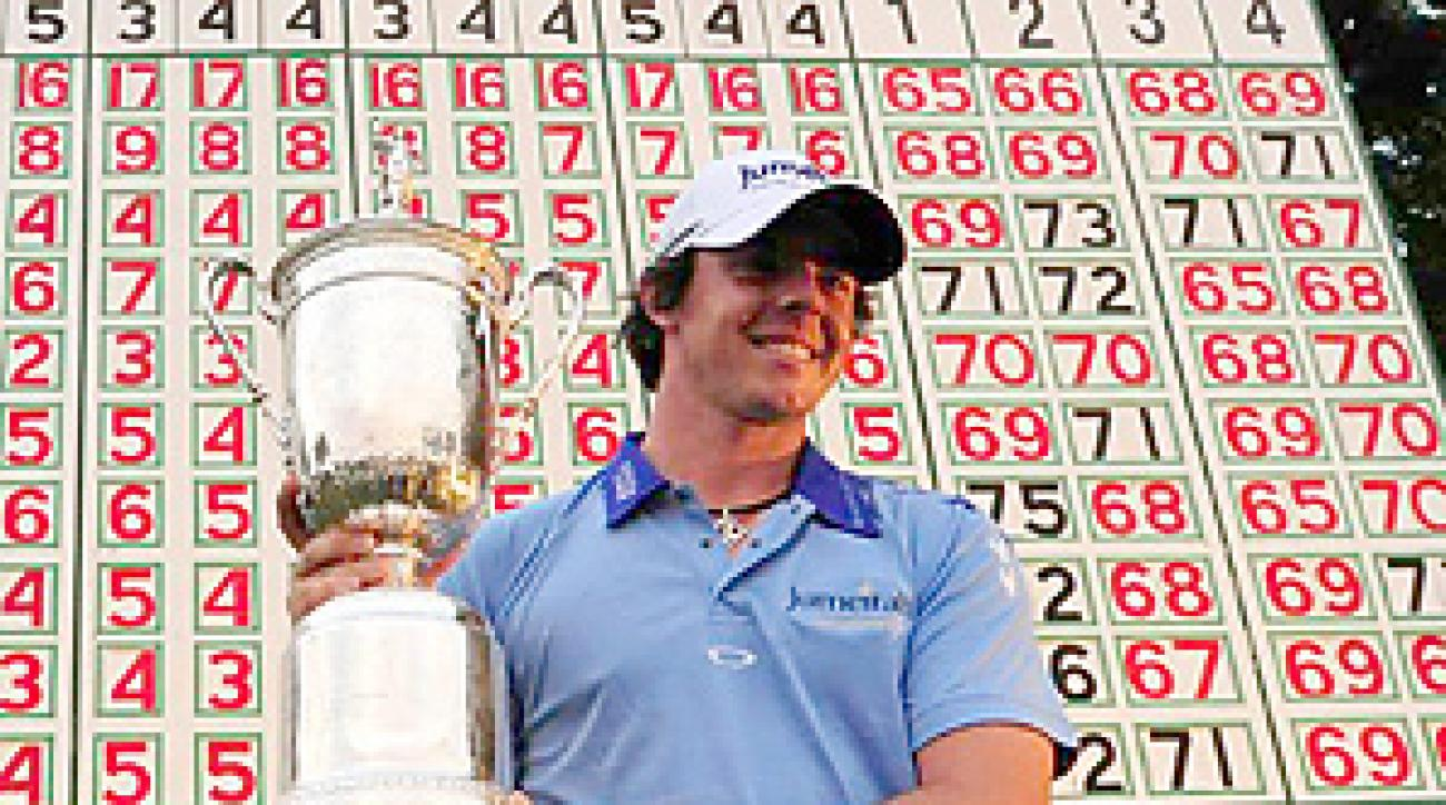 Rory McIlroy won the U.S. Open by eight shots.