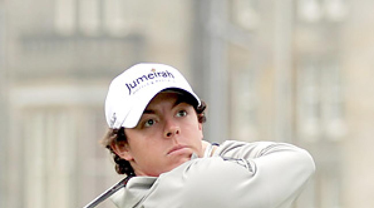 Rory McIlroy shot a 66 on Saturday at the Old Course at St. Andrews.
