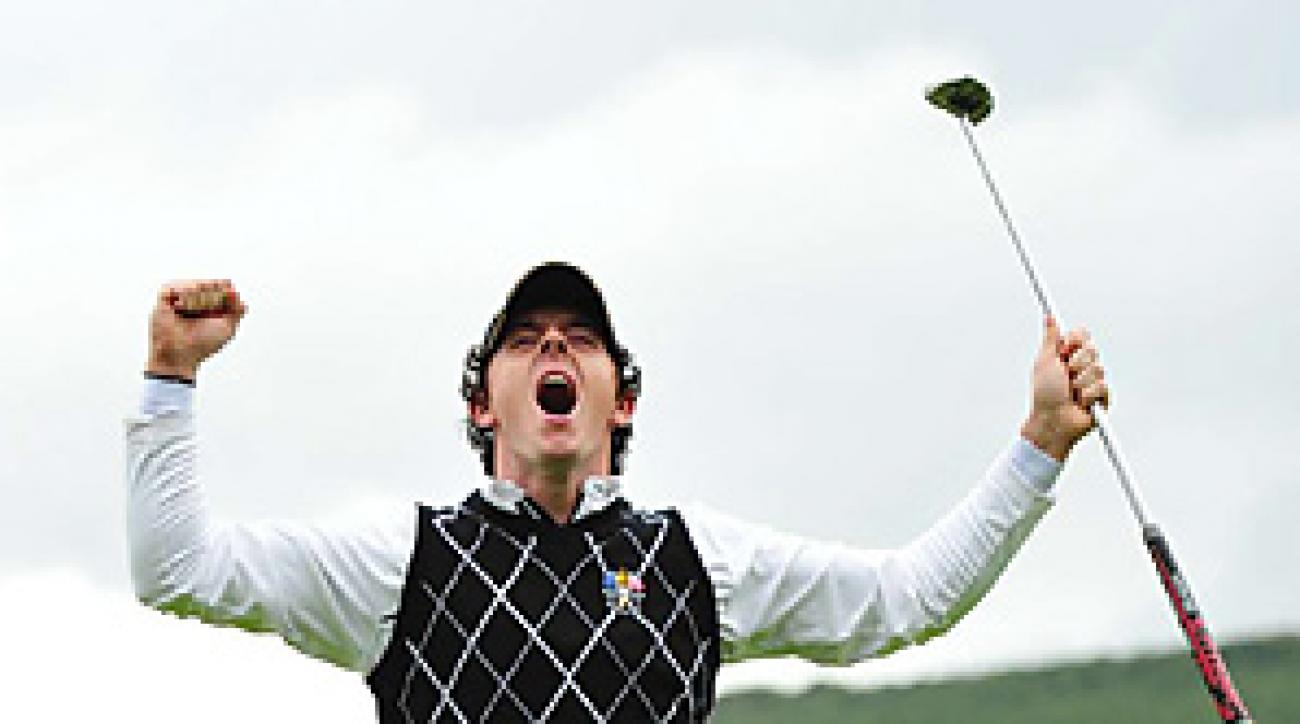 Rory McIlroy and the rest of the European team could be doing a lot more celebrating on Monday afternoon.
