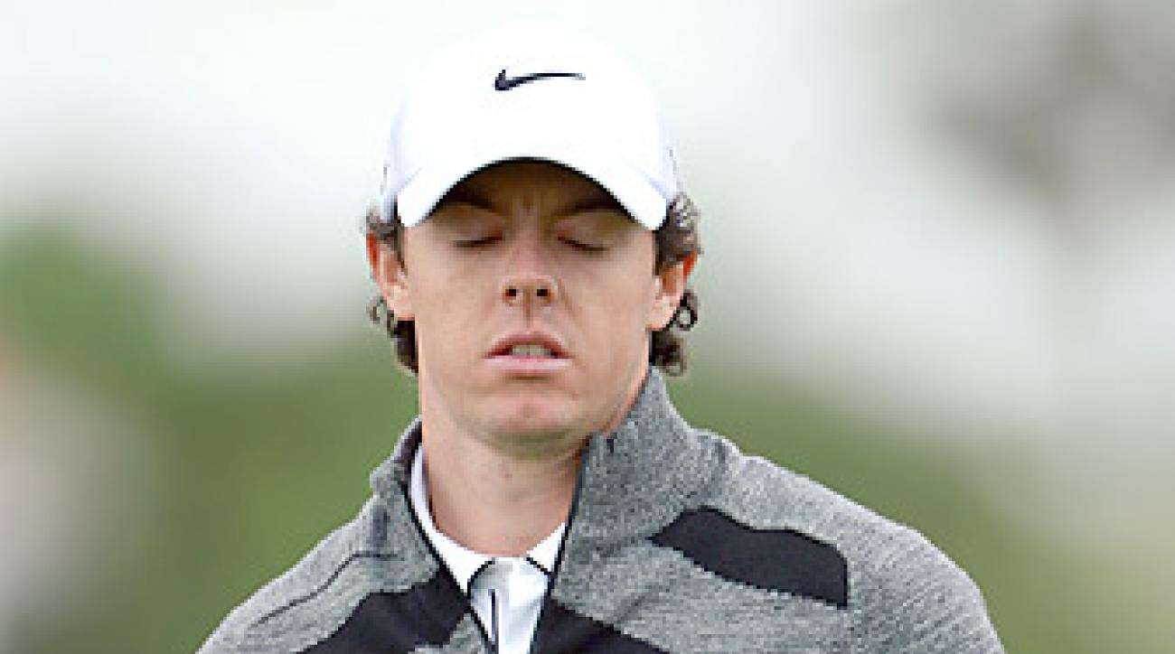 Rory McIlroy shot a 74 on Thursday at the BMW.