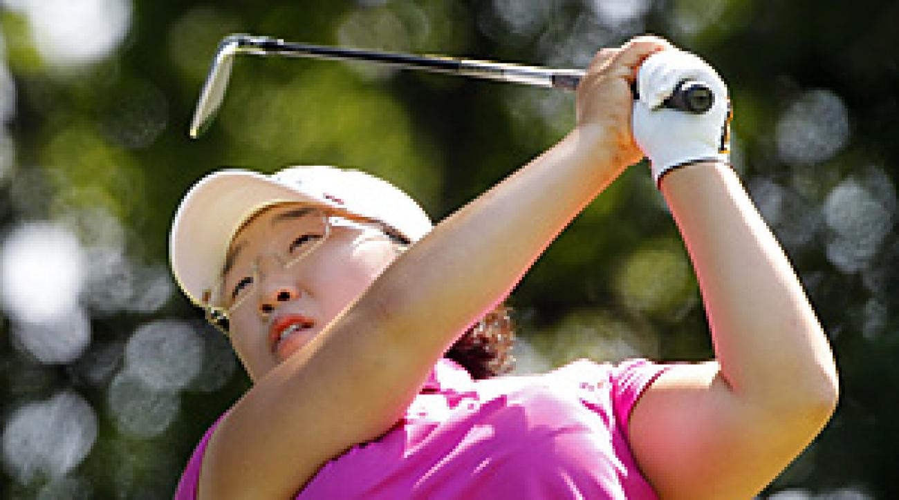 Jiyai Shin birdied her final hole, and won the event after Morgan Pressel's putt to tie just missed.