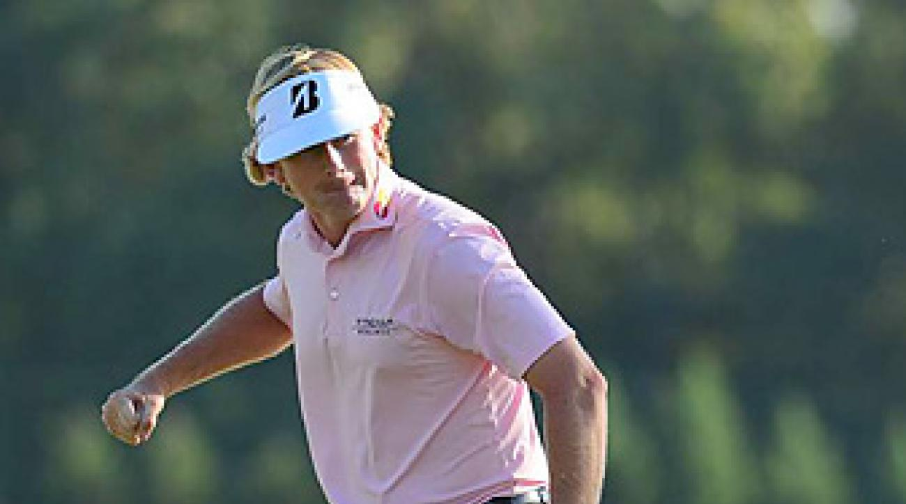 Brandt Snedeker holed this chip for birdie on 17 and went on to win the Tour Championship by three shots.