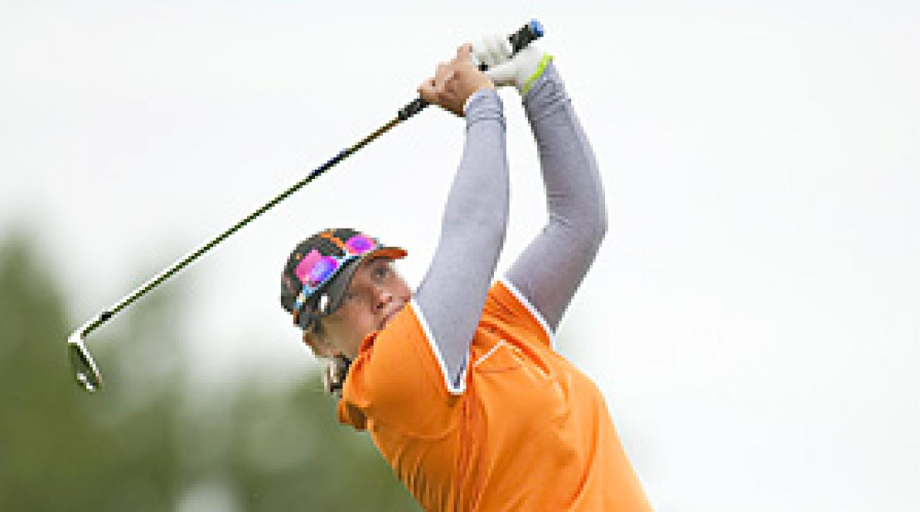 Karen Stupples shot a 67 to share the lead after Round 1 in France.