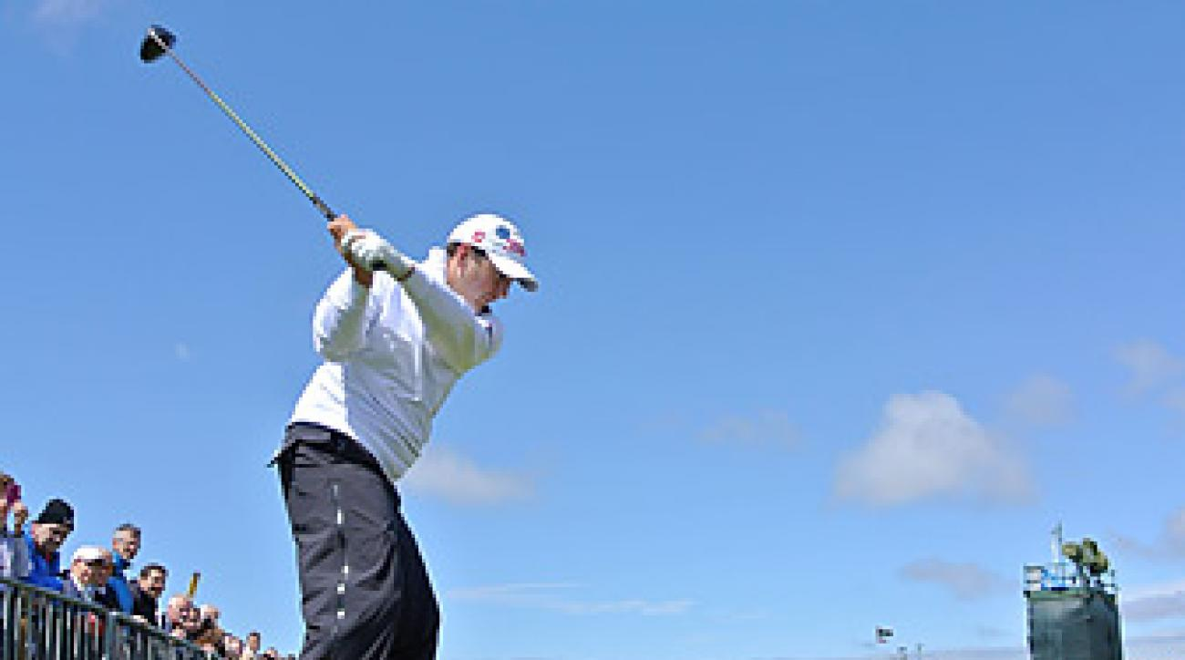 The sun finally shined on Ben Curtis and the rest of the field on Wednesday at Lytham.