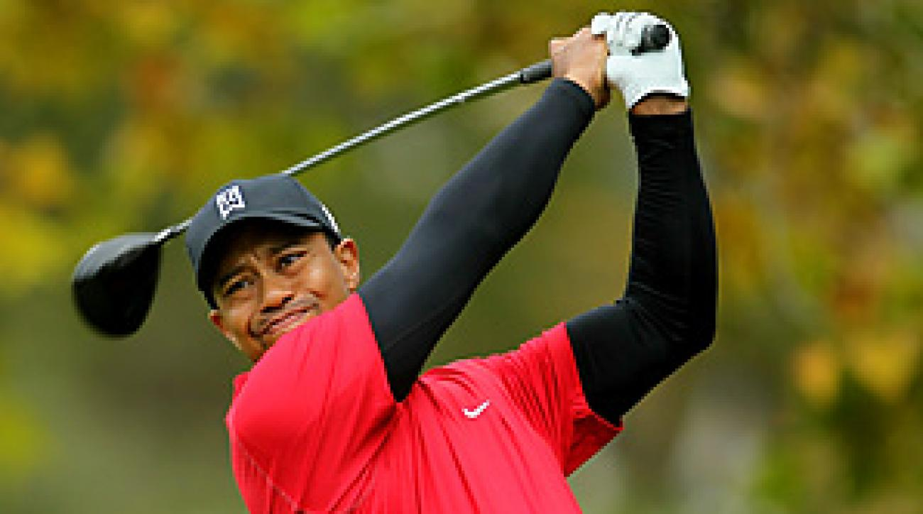Tiger Woods shot a 73 in the final round before losing to Graeme McDowell in a playoff.