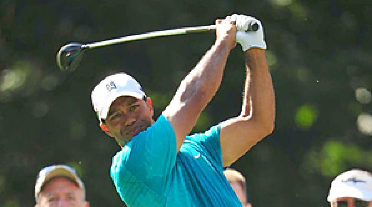 In his last event, Tiger Woods withdrew in the final round of the Players with a neck injury.