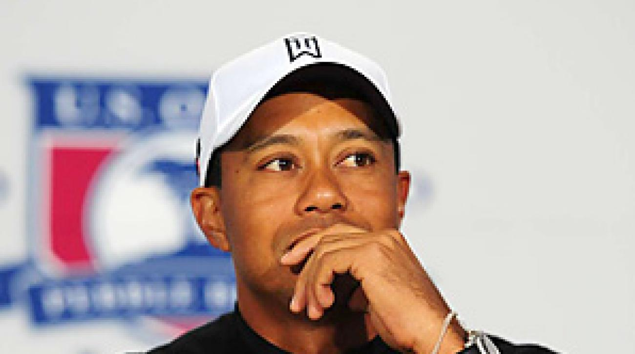 At his Tuesday press conference, Tiger Woods said his game is returning to form.
