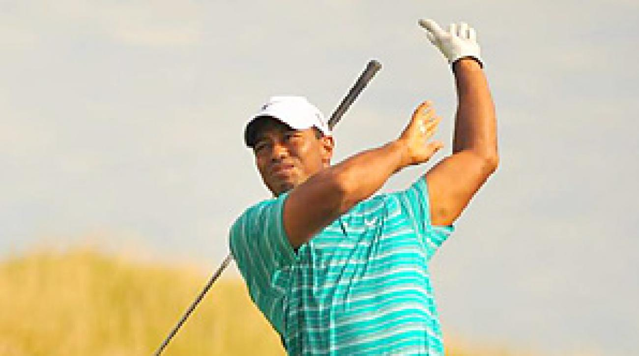 In his last event, Tiger Woods finished tied for 28th at the PGA Championship.