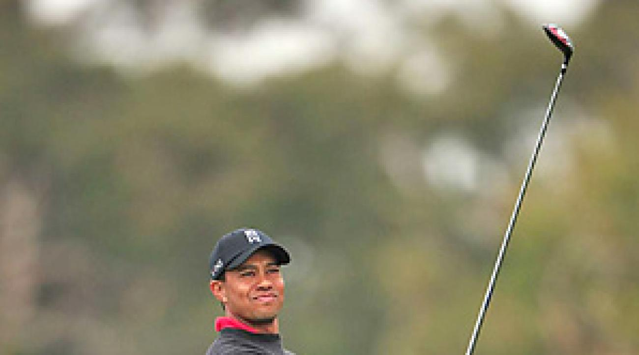 Tiger Woods's five-tournament winning streak at Torrey Pines ended on Sunday.