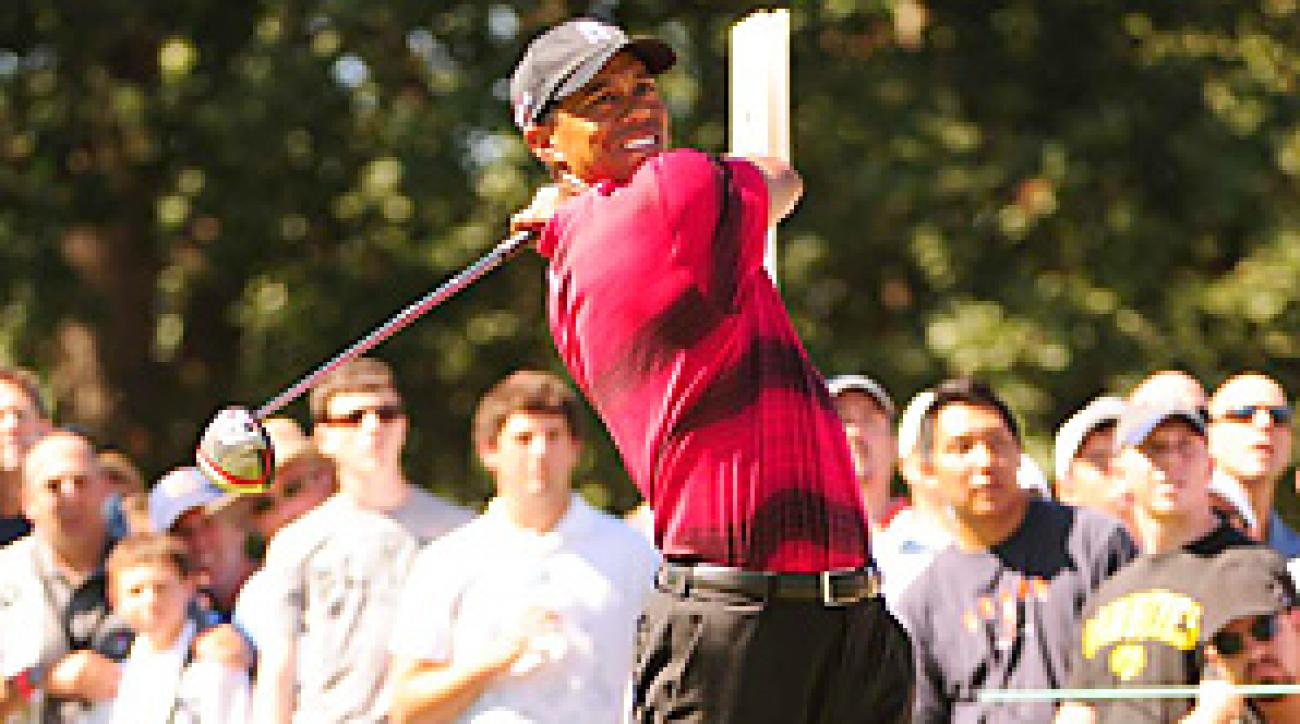 Tiger Woods shot a 70 on Sunday to finish one-under for the tournament.