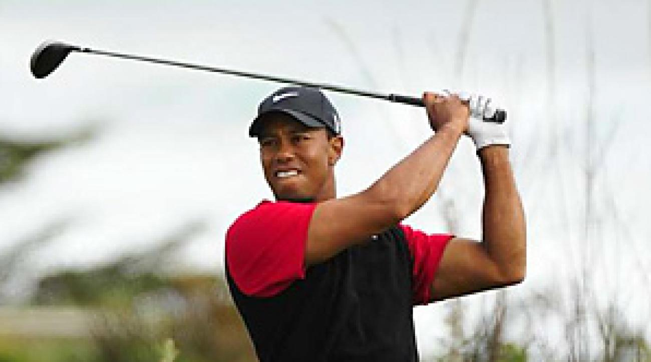 Tiger Woods looked ordinary on Sunday, when he made five bogeys over his first 10 holes.