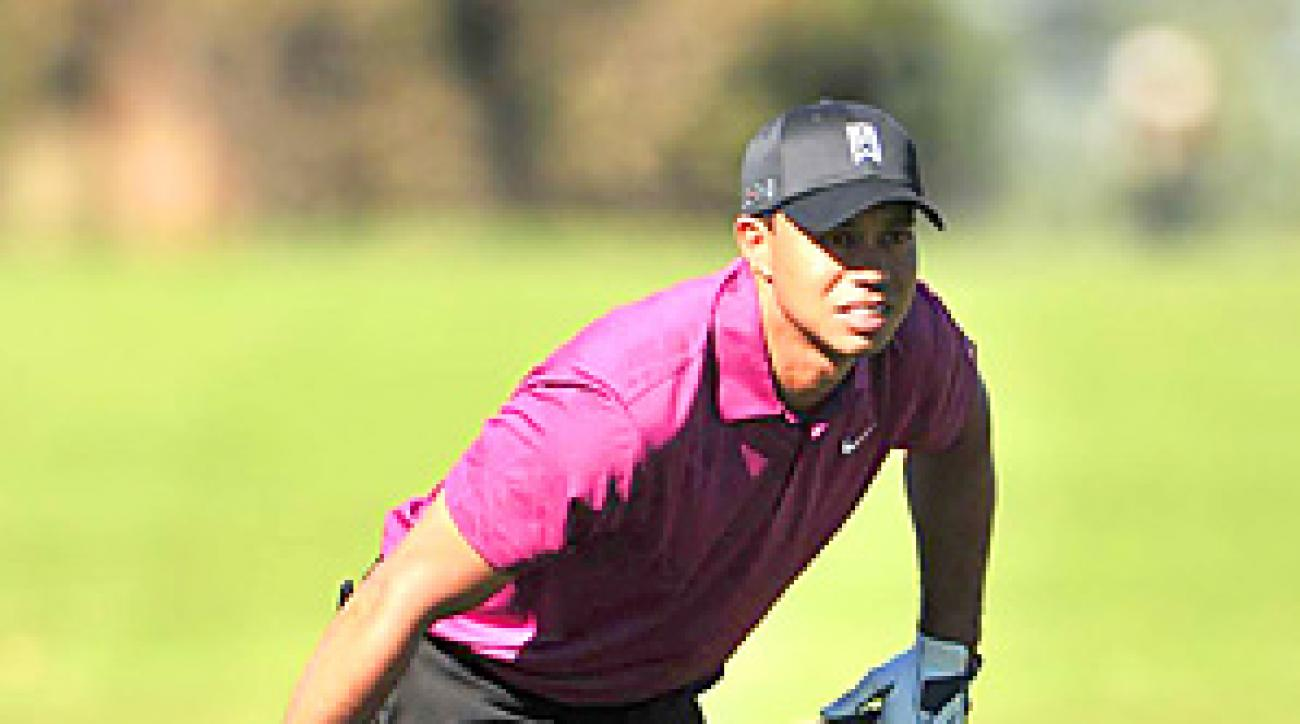 Tiger Woods shot a 3-under 69 in his first round at Torrey Pines.