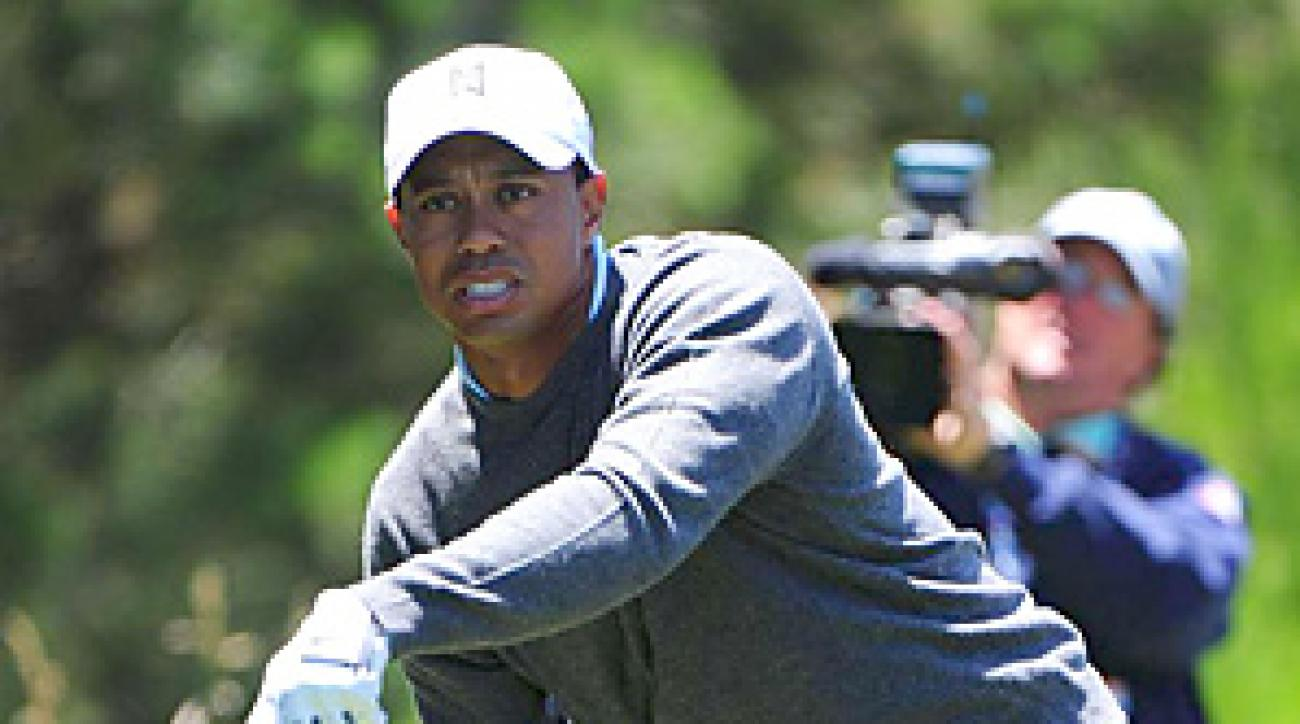 Tiger Woods failed to make a birdie during his opening-round 74.