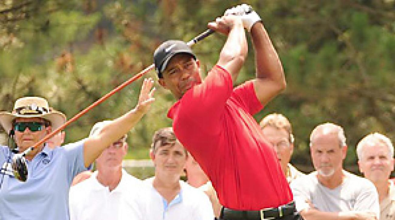 Woods was fortunate to finish the week ranked No. 49 in the world, making him eligible to play the Chevron World Challenge, his own event, in December.