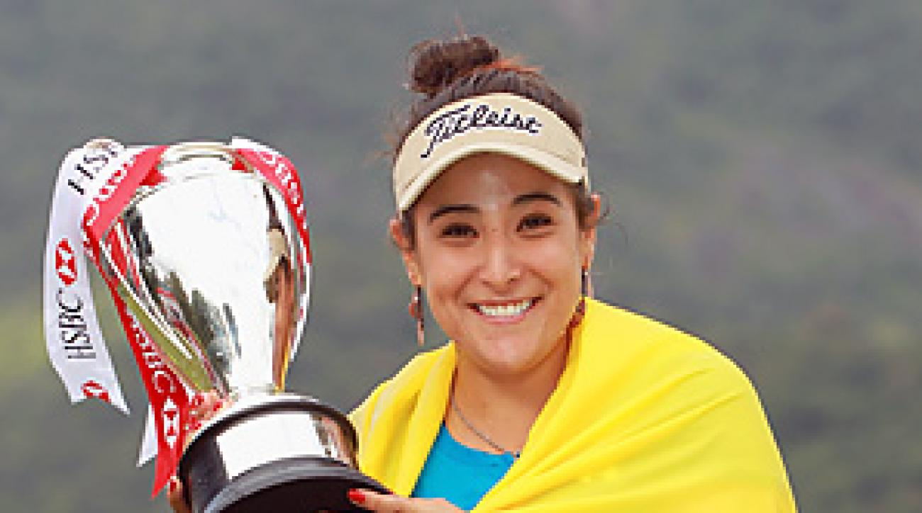 Mariajo Uribe had seven birdies and a bogey to finish at 9-under and win the 30-player exhibition event.