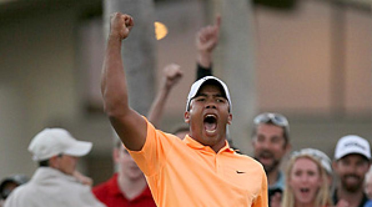 Jhonattan Vegas made a 13-putt on the second hole of sudden death for his first PGA Tour victory.