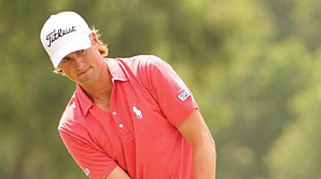 Webb Simpson enters the BMW Championship at the top of the FedEx Cup playoff standings.