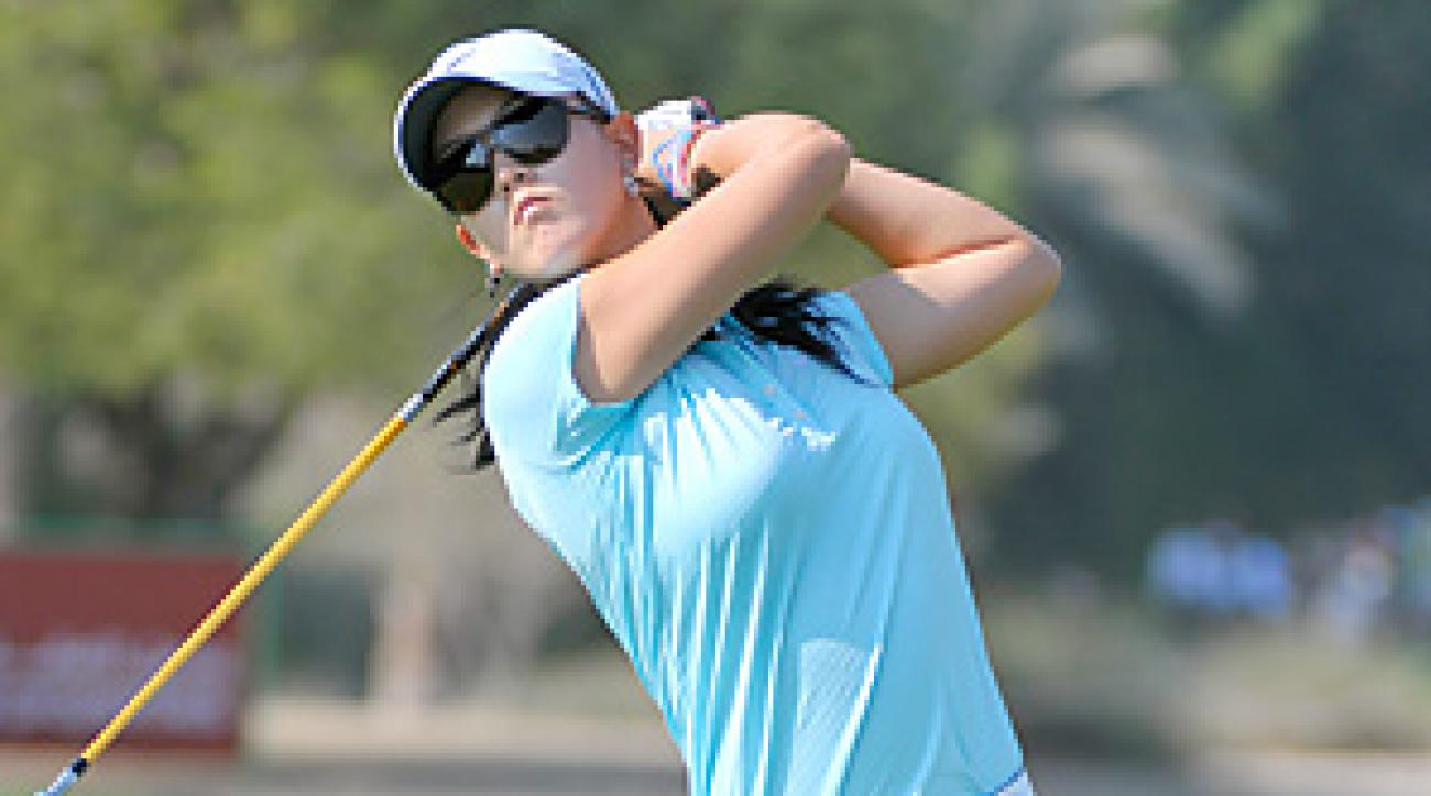Michelle Wie was still bothered by a bad back and shot a 73 on Friday.
