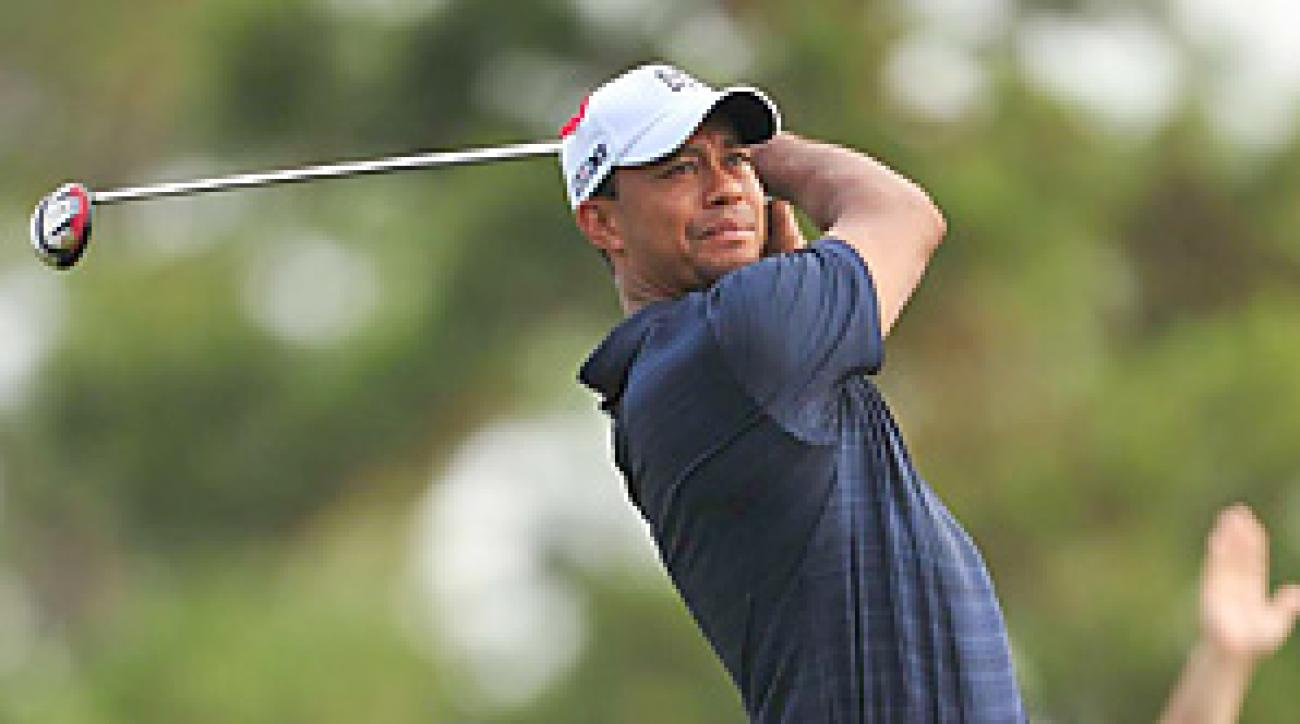 Tiger Woods withdrew from the Players Championship after a front-nine 42.