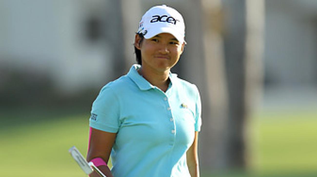 Yani Tseng shot a 71 in windy conditions on Saturday.