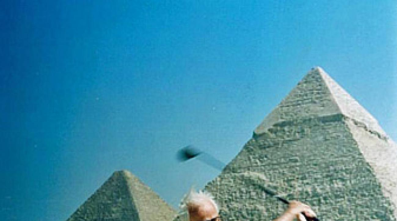 Larry Packard, who turned 100 Thursday, designed courses all over the world, including in Egypt.