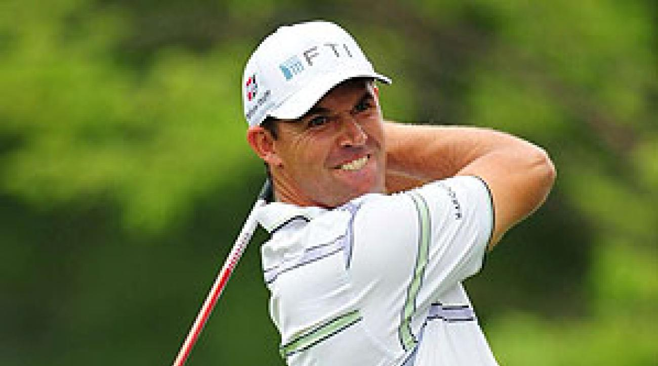 Padraig Harrington shot a four-under 68.