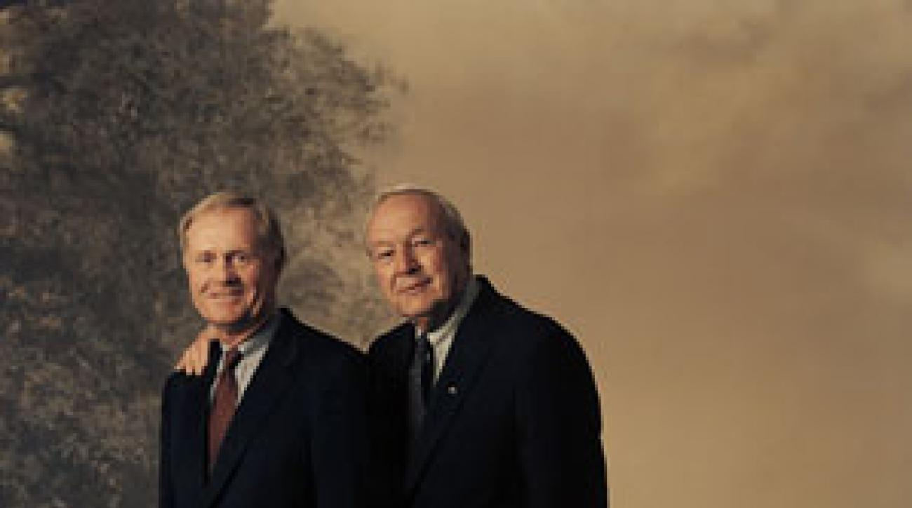 Jack Nicklaus and Arnold Palmer in Philadelphia.
