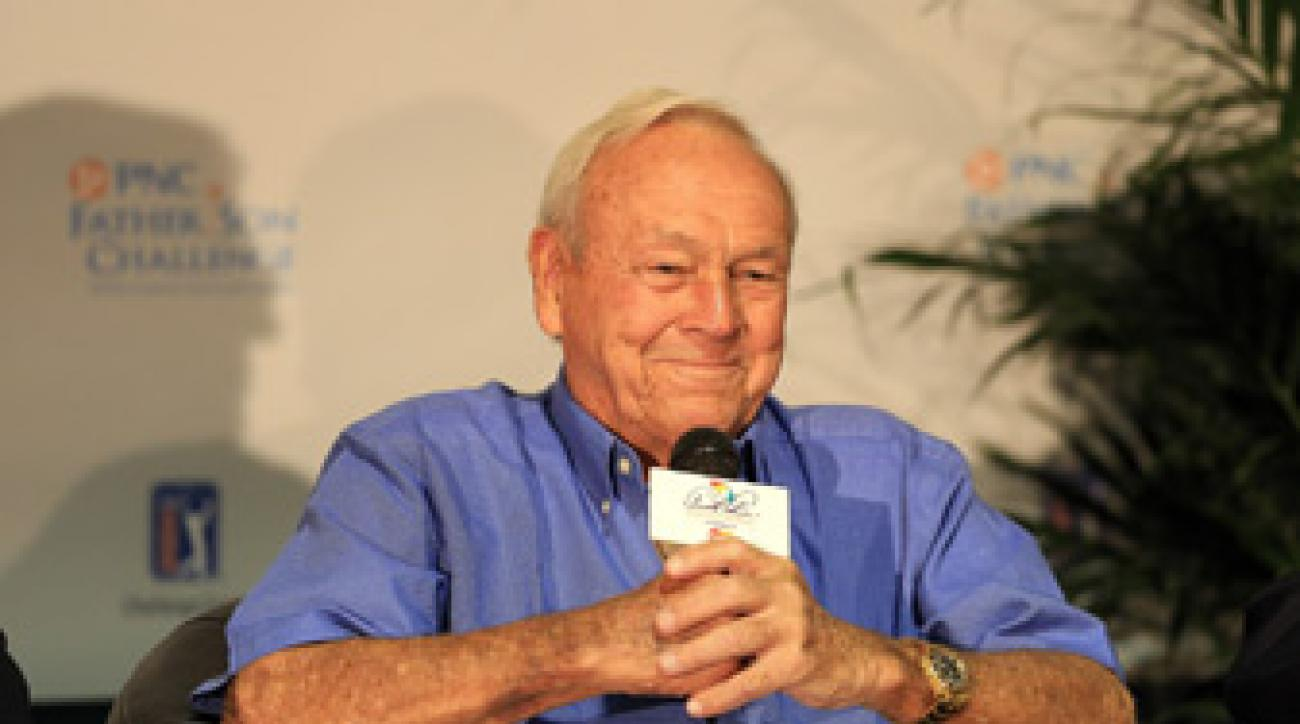 Arnold Palmer helped bring back the Father-Son Challenge after a three-year absence.