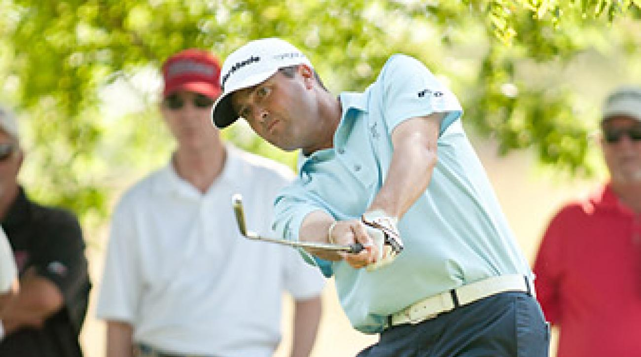 Ryan Palmer shot a six-under 64, two better than Matt Kuchar.