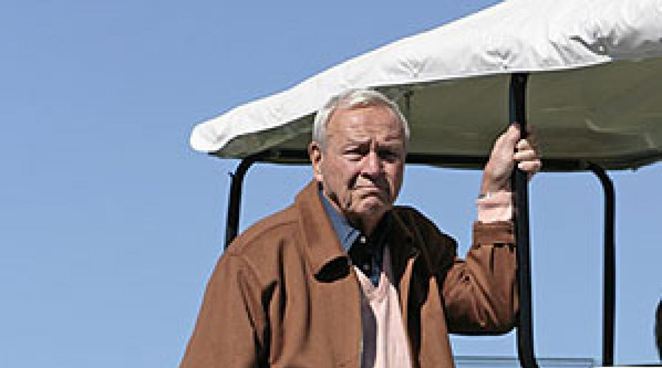 Arnold Palmer watches the action during the third round of the Arnold Palmer Invitational on March 1, 2007.
