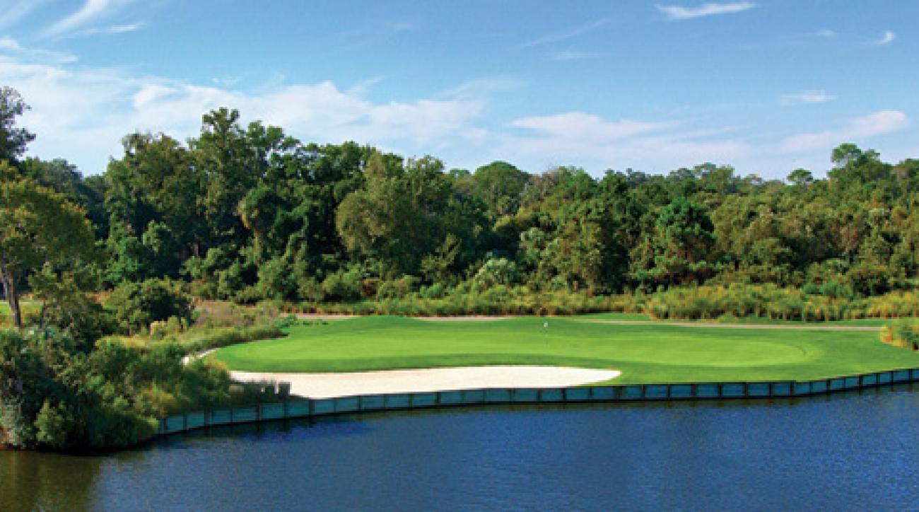 The 16th hole at the Arthur Hills course at Palmetto Dunes Resort.