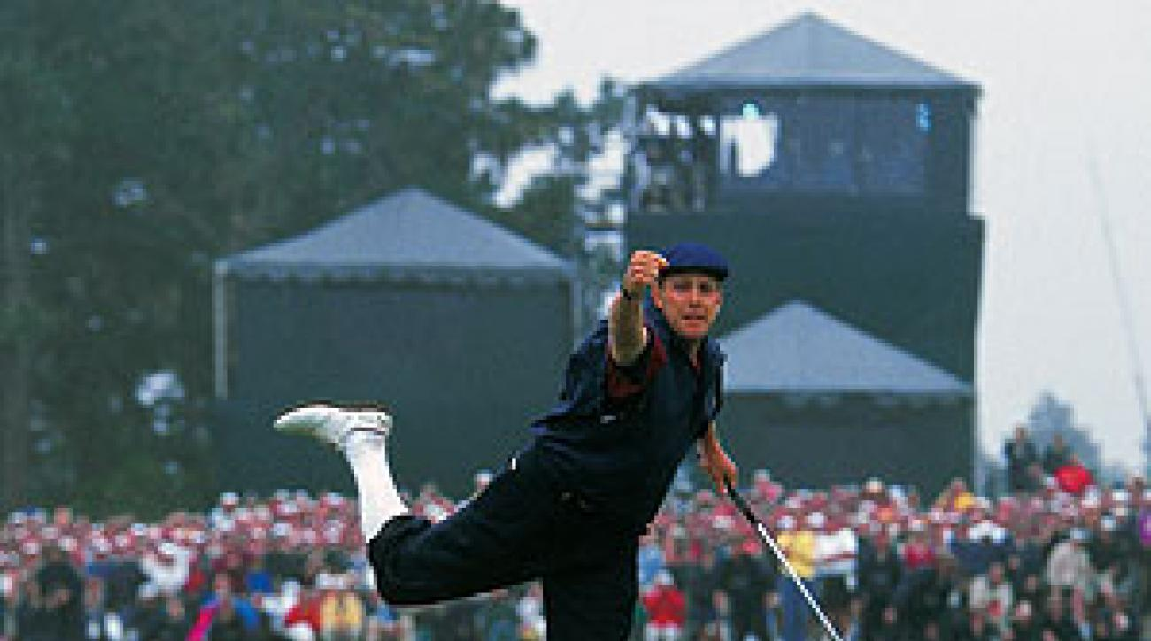 Payne Stewart wins the 1999 U.S. Open, the second U.S. Open of his career.