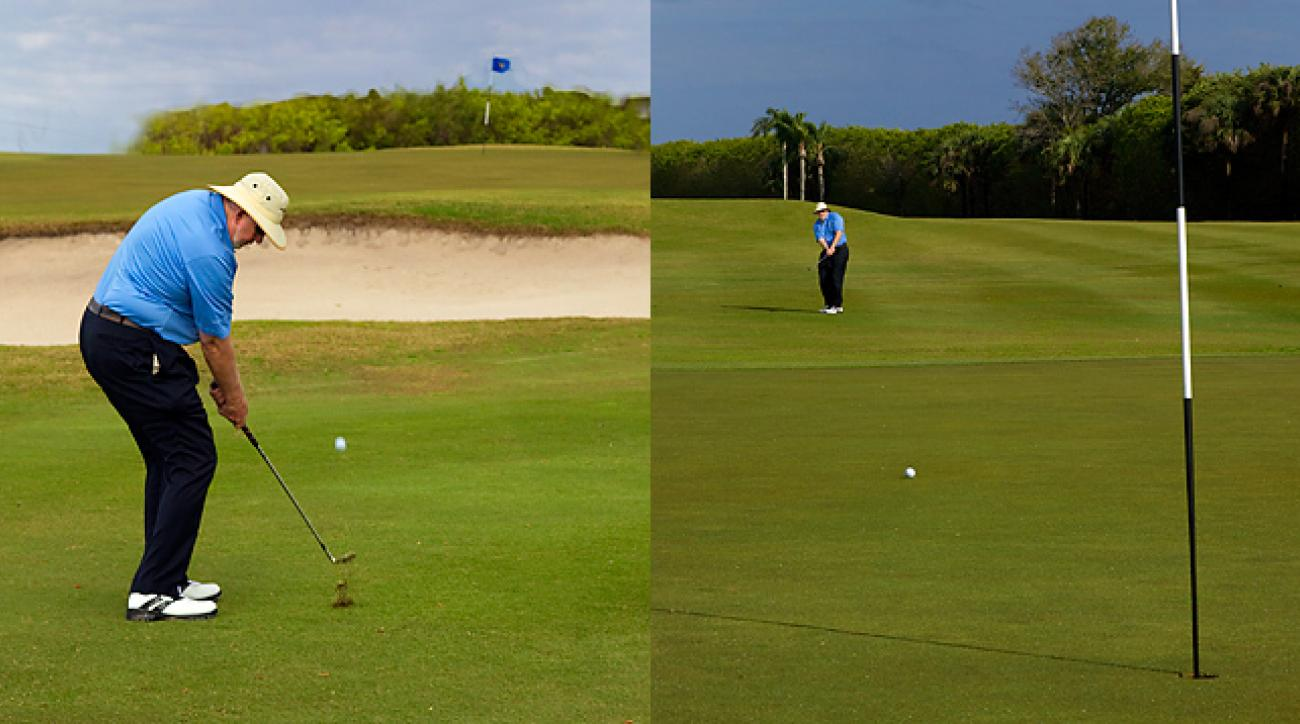 Forced carries require a deft touch on lofted pitches... while open greens demand use of the bump-and-run.