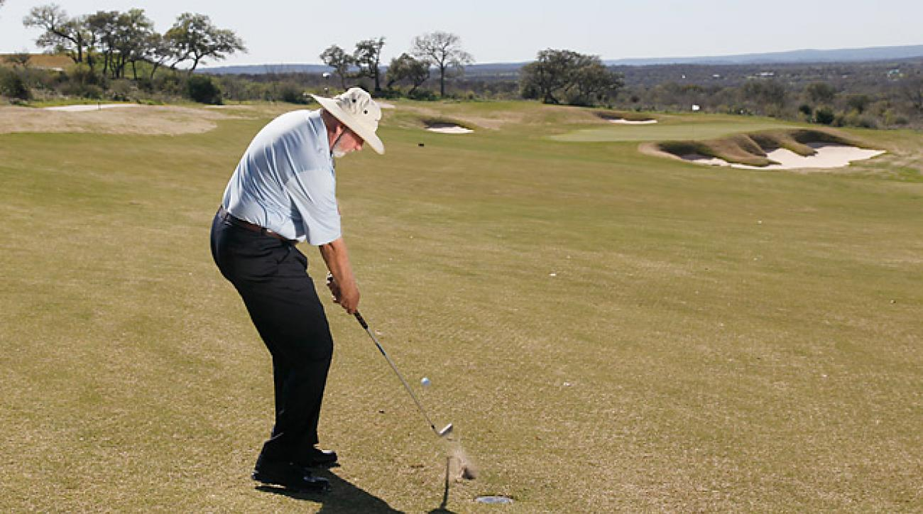 The bump-and-run shot has proved more reliable than using an all-out full swing.