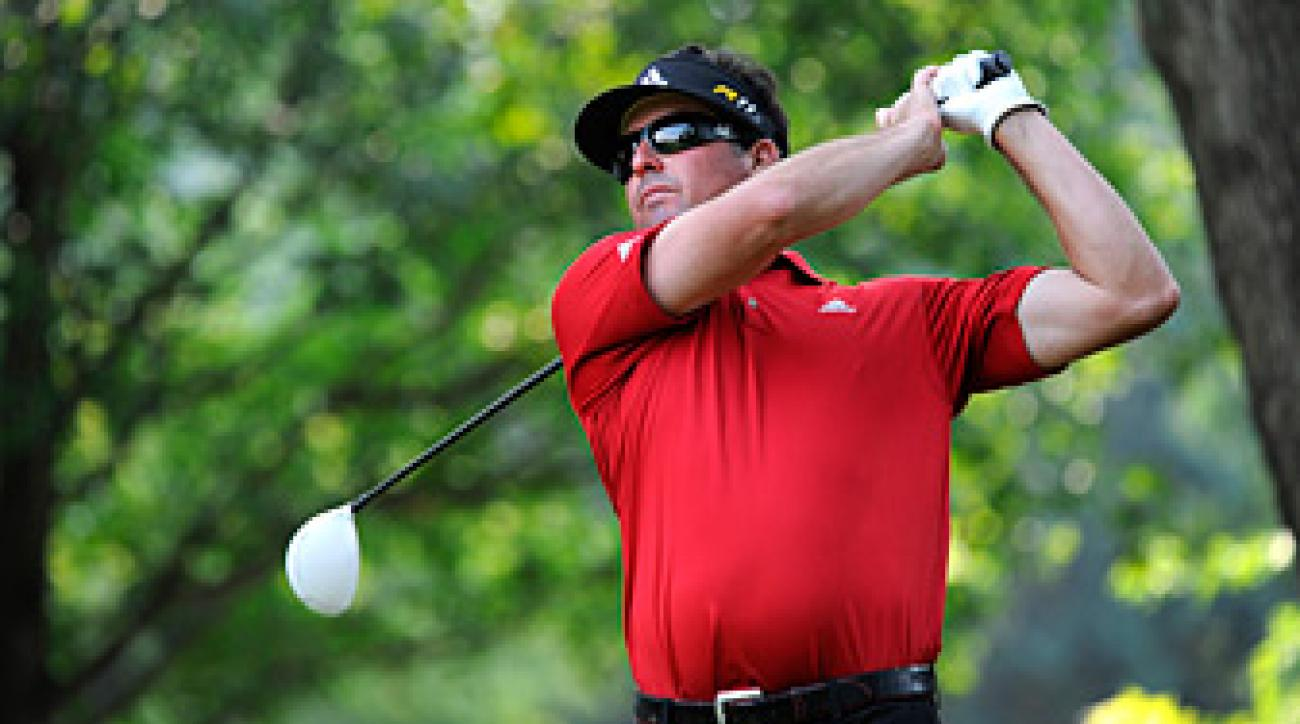 Pat Perez is three shots off the lead.