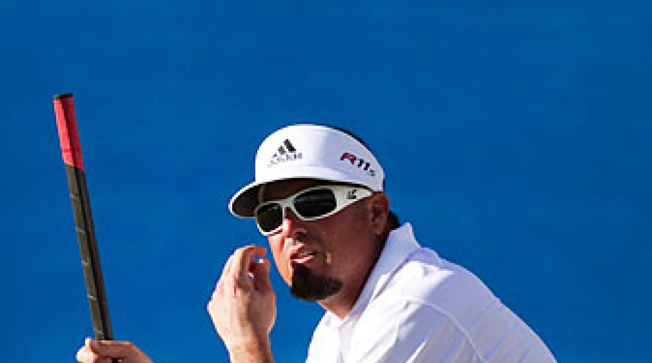 Pat Perez switched to a belly putter in the offseason.