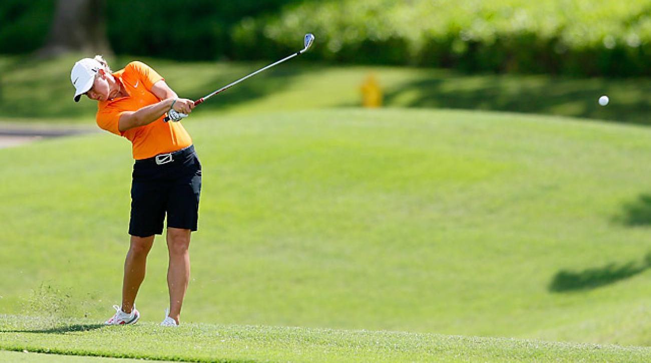 Suzann Pettersen leads after the second round at the LPGA LOTTE Championship.