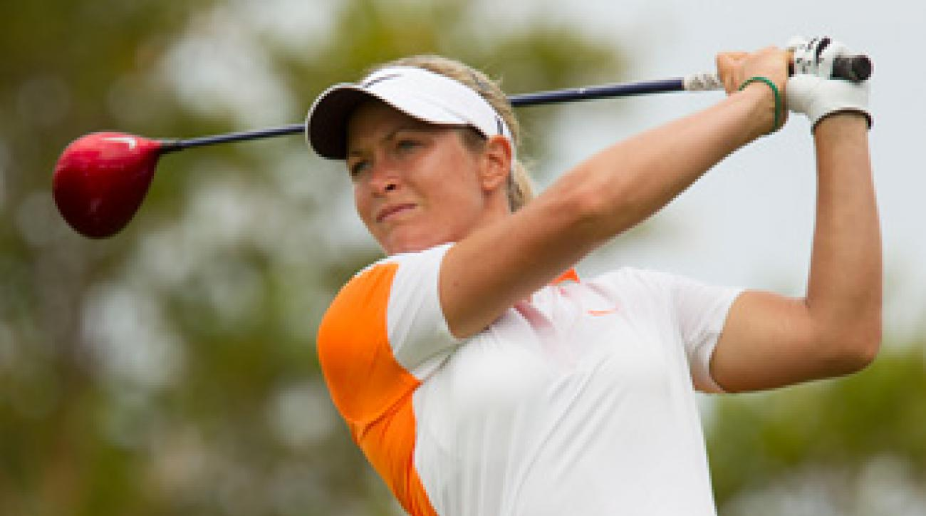 Suzann Pettersen made five birdies and a bogey.