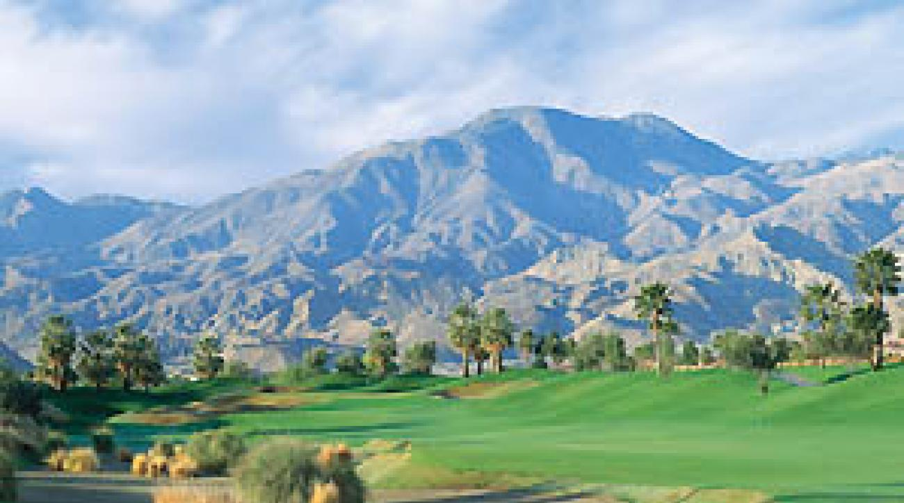 "To Dye for: The ninth hole at PGA West's Stadium course. <span class=""picturesource"">Evan Schiller</span>"